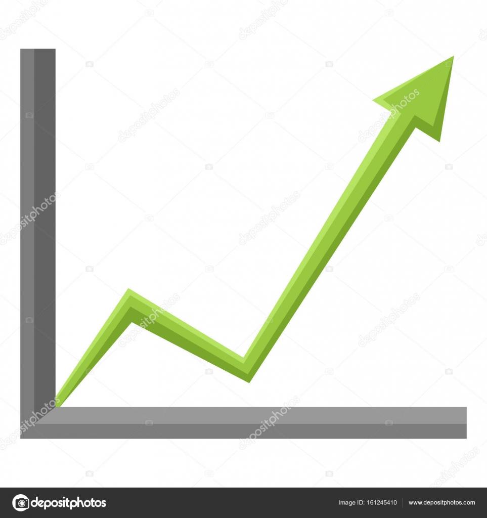 How to draw green arrow logo | Green Arrow Go Up — Stock