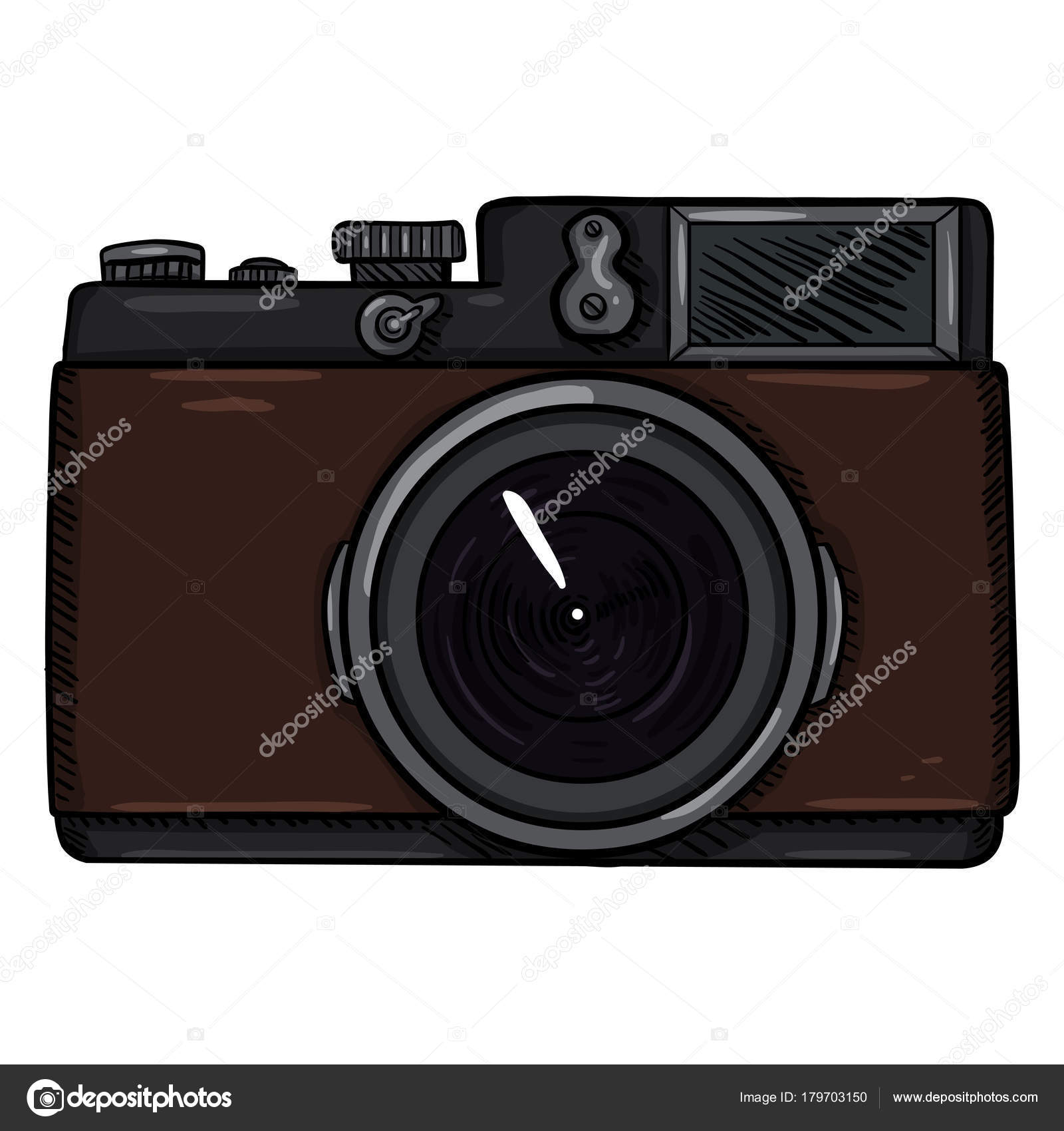 Cartoon Retro Photo Camera Stock Vector
