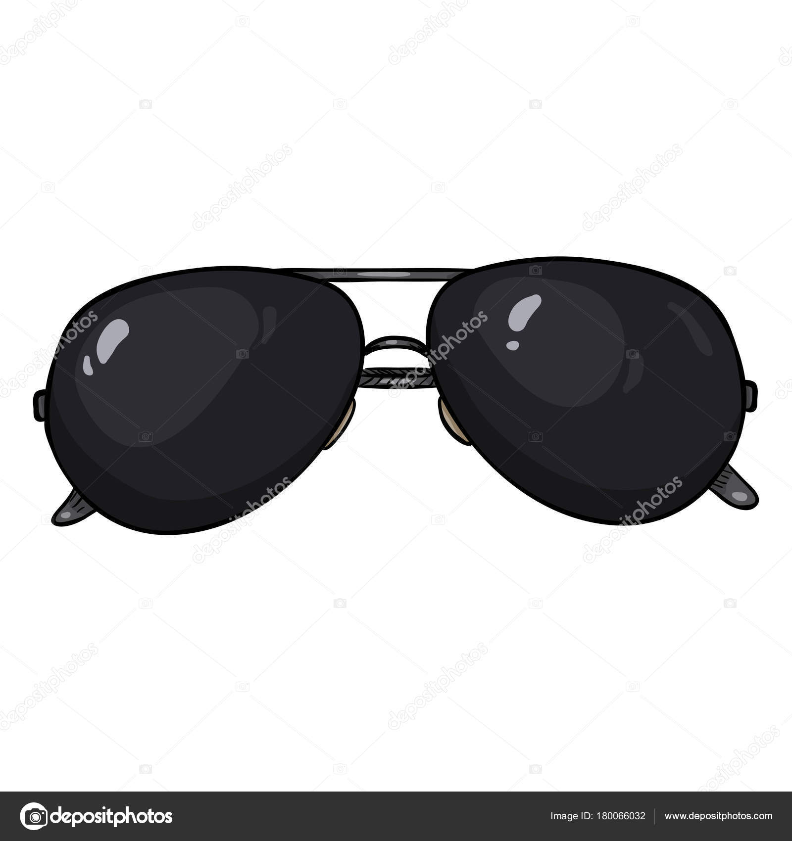 Vectores dibujos animados negro aviador gafas de sol en el borde del ...