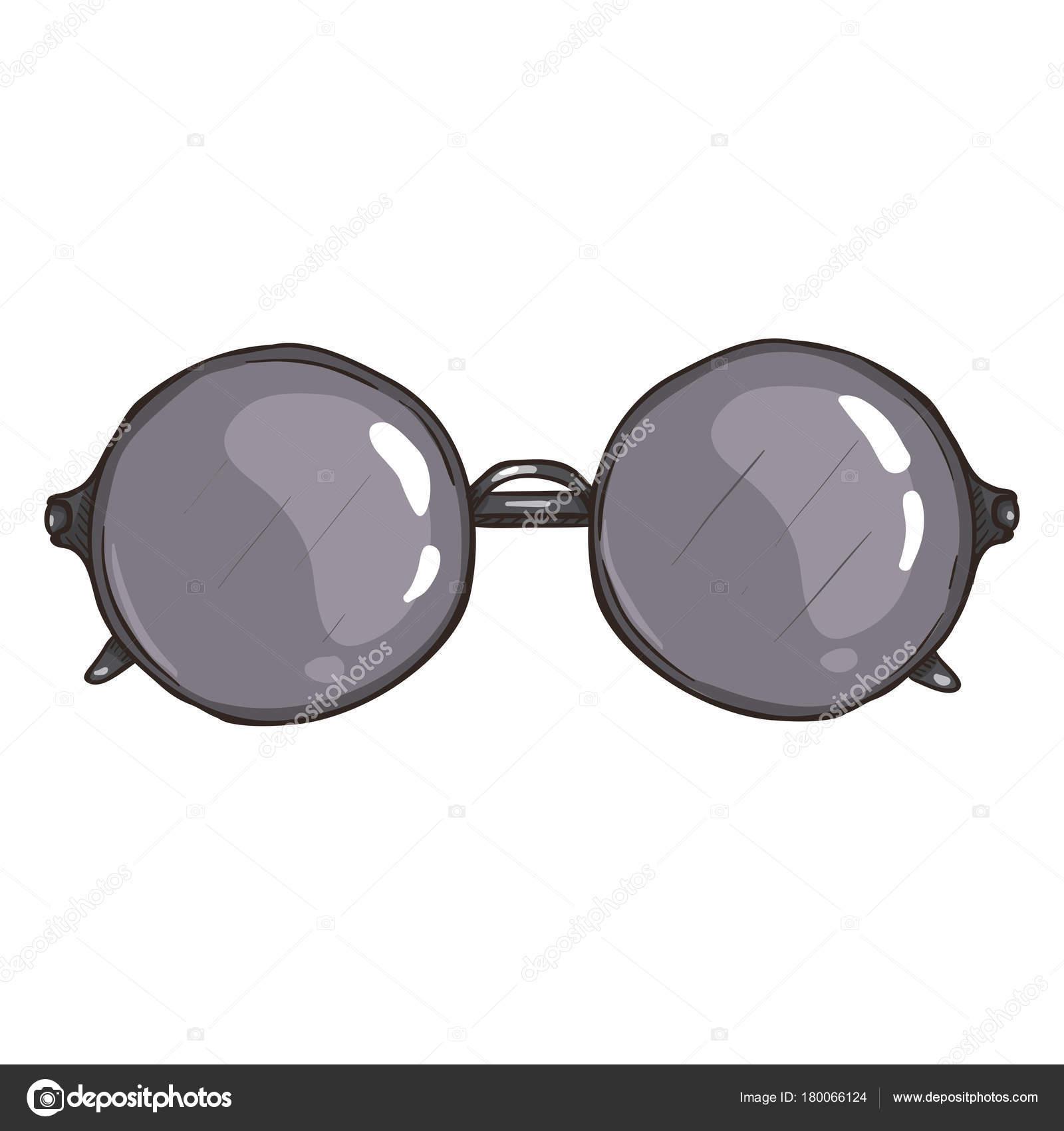 Vektor-Sonnenbrille mit Silber Runde Linsen — Stockvektor © nikiteev ...