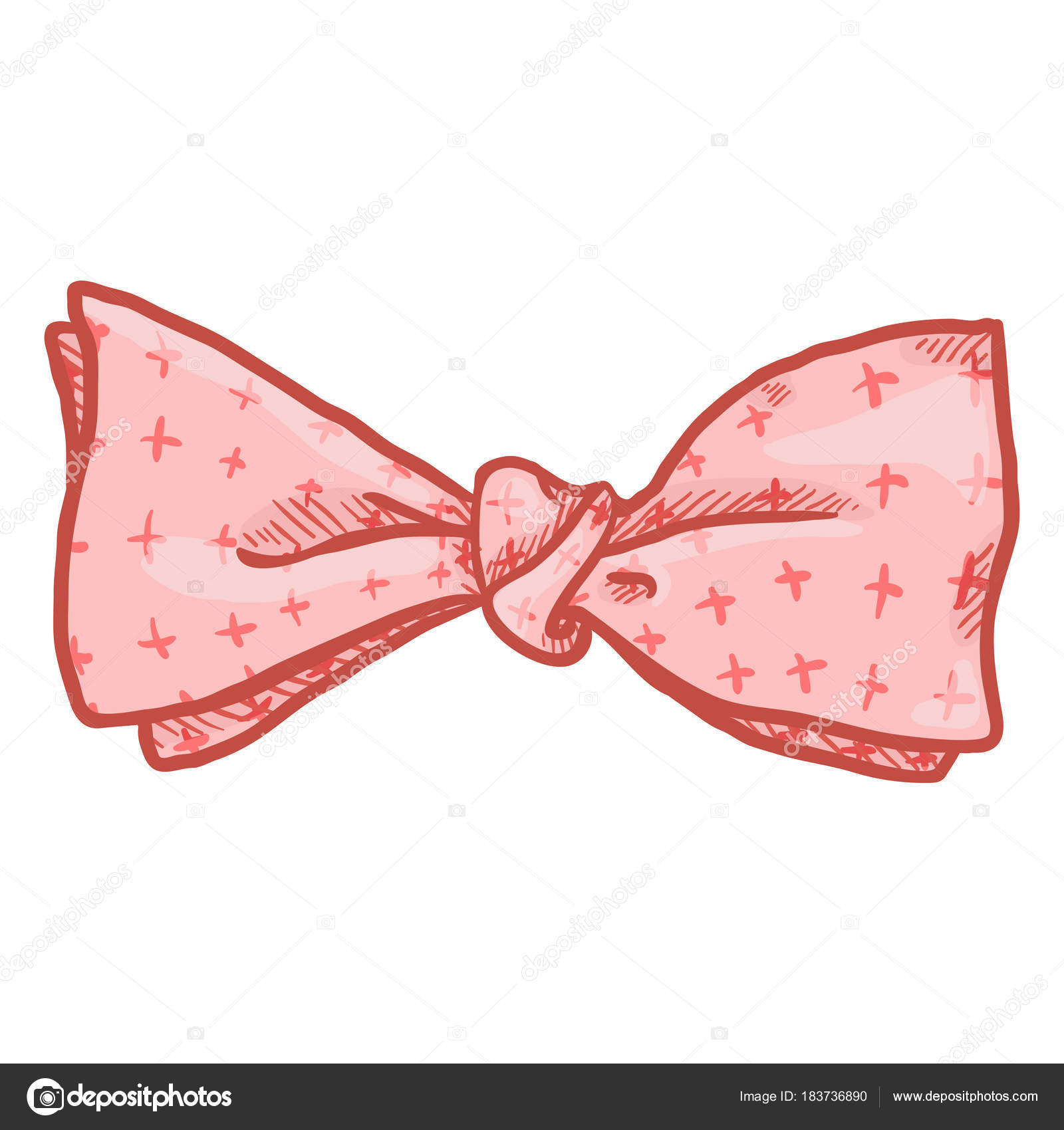 Cartoon Butterfly Pink Bow Tie Vintage Fashion Accessory Vector Illustration Stock Vector C Nikiteev 183736890