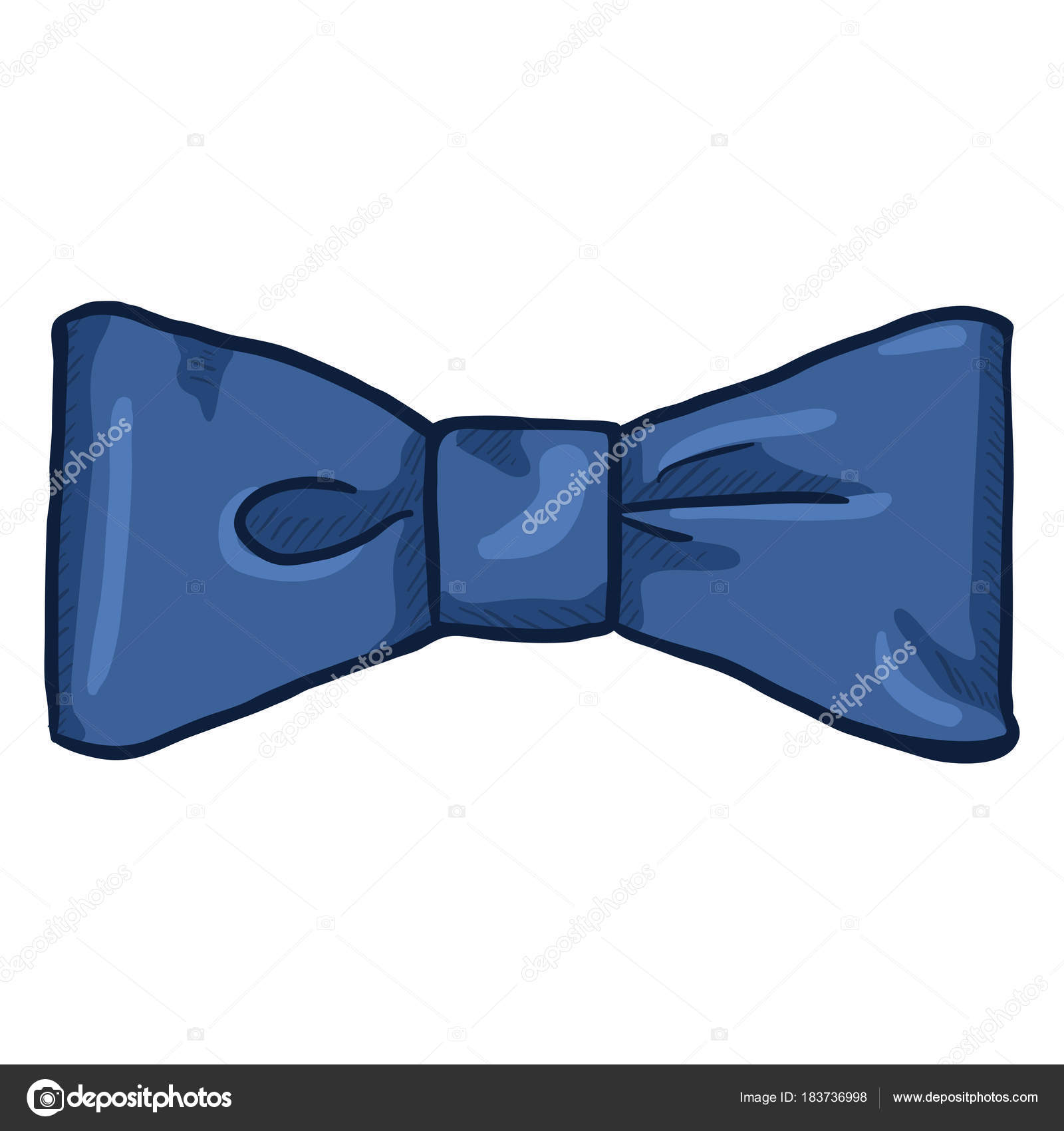 Dessin Animé Standard Bleu Noeud Papillon Accessoire Mode