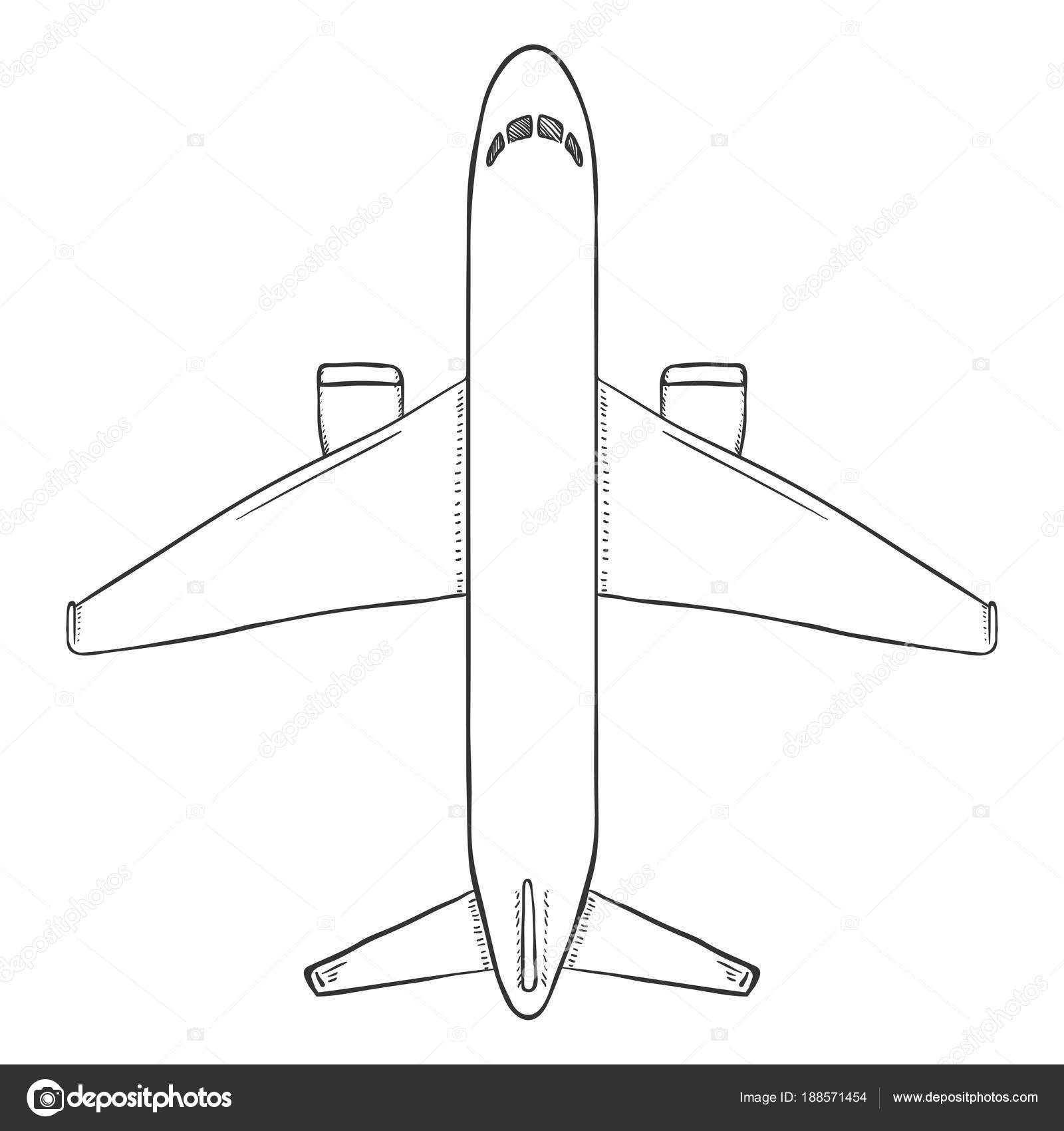 Pictures : commercial airplanes | Vector Sketch Passenger