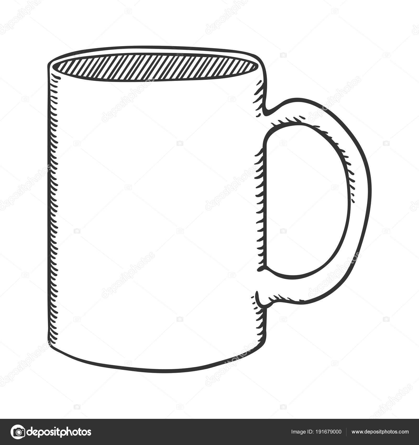 Images Mug Outline Vector Outline Sketch Illustration Classic Tea Mug Stock Vector C Nikiteev 191679000