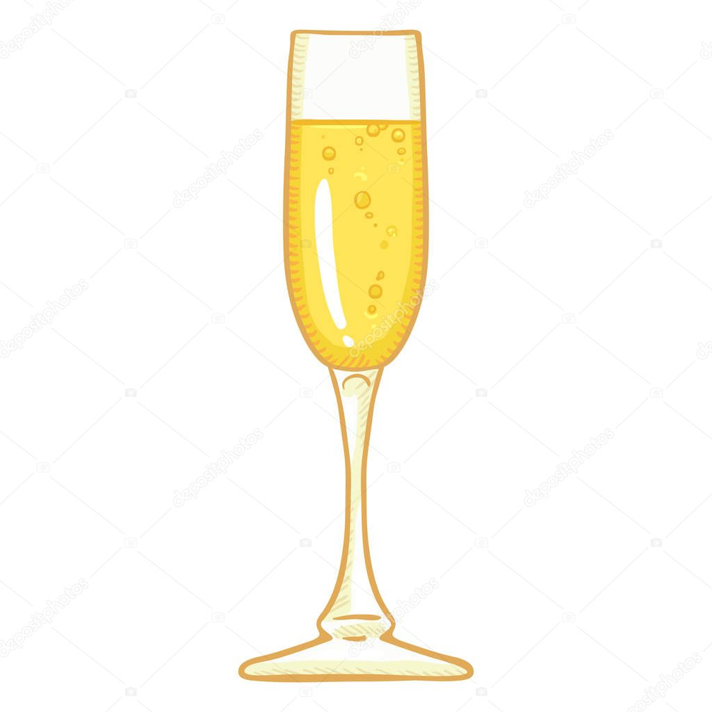 champagne flute cartoon vector images 43 - 450×450