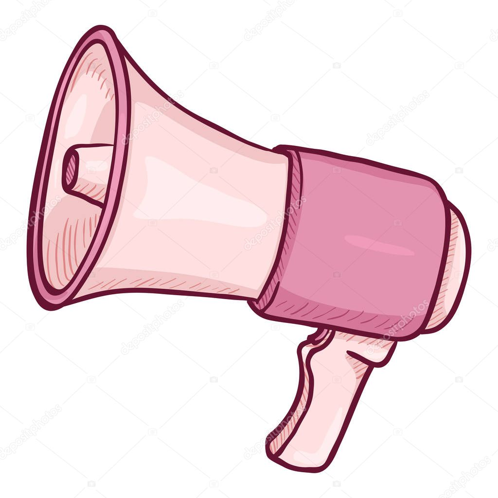 vector cartoon illustration pink loudspeaker on isolated white background premium vector in adobe illustrator ai ai format encapsulated postscript eps eps format wdrfree