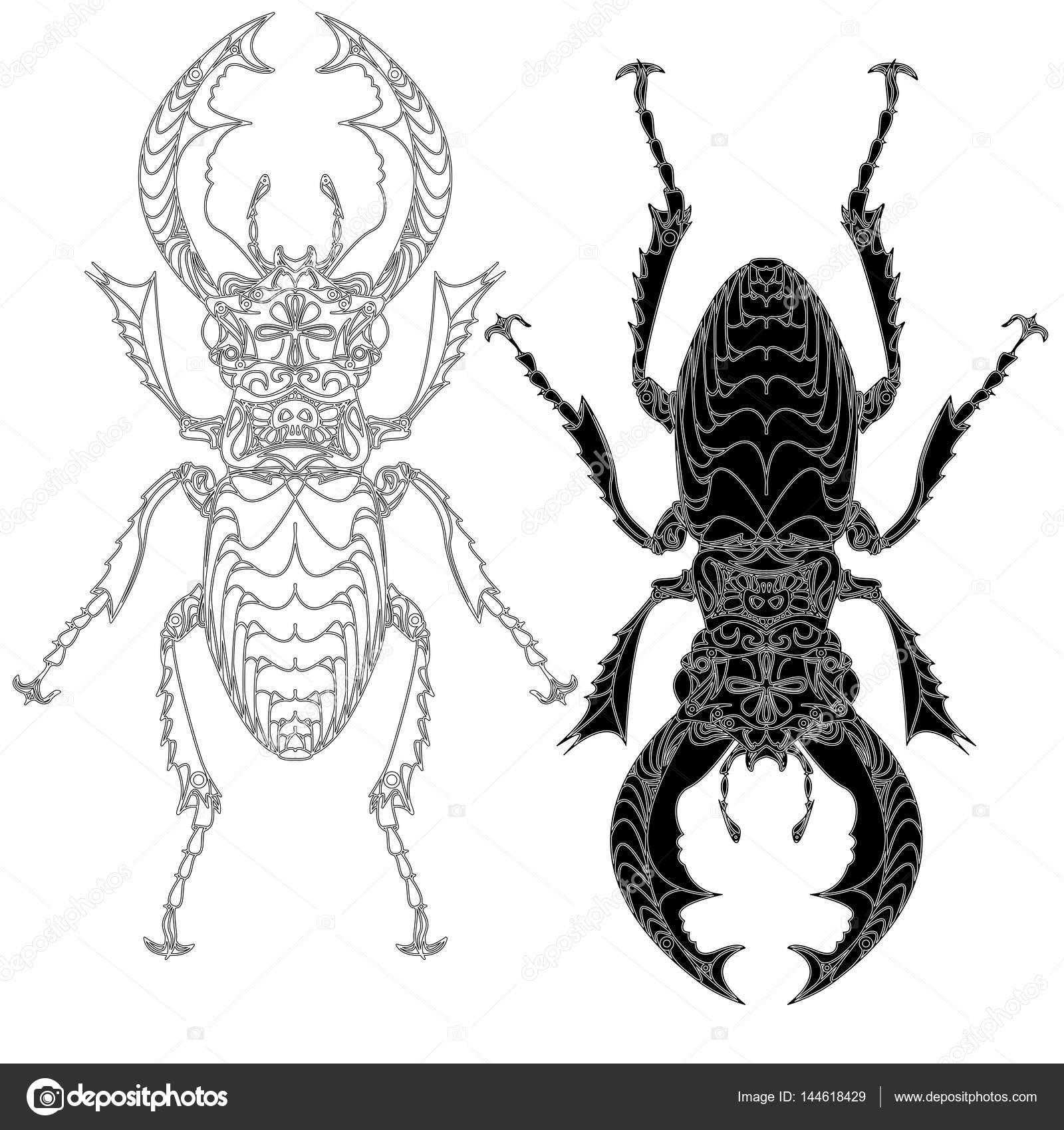 Käfer. Hand gezeichnete Skizze — Stockvektor © alekseyk1975 #144618429