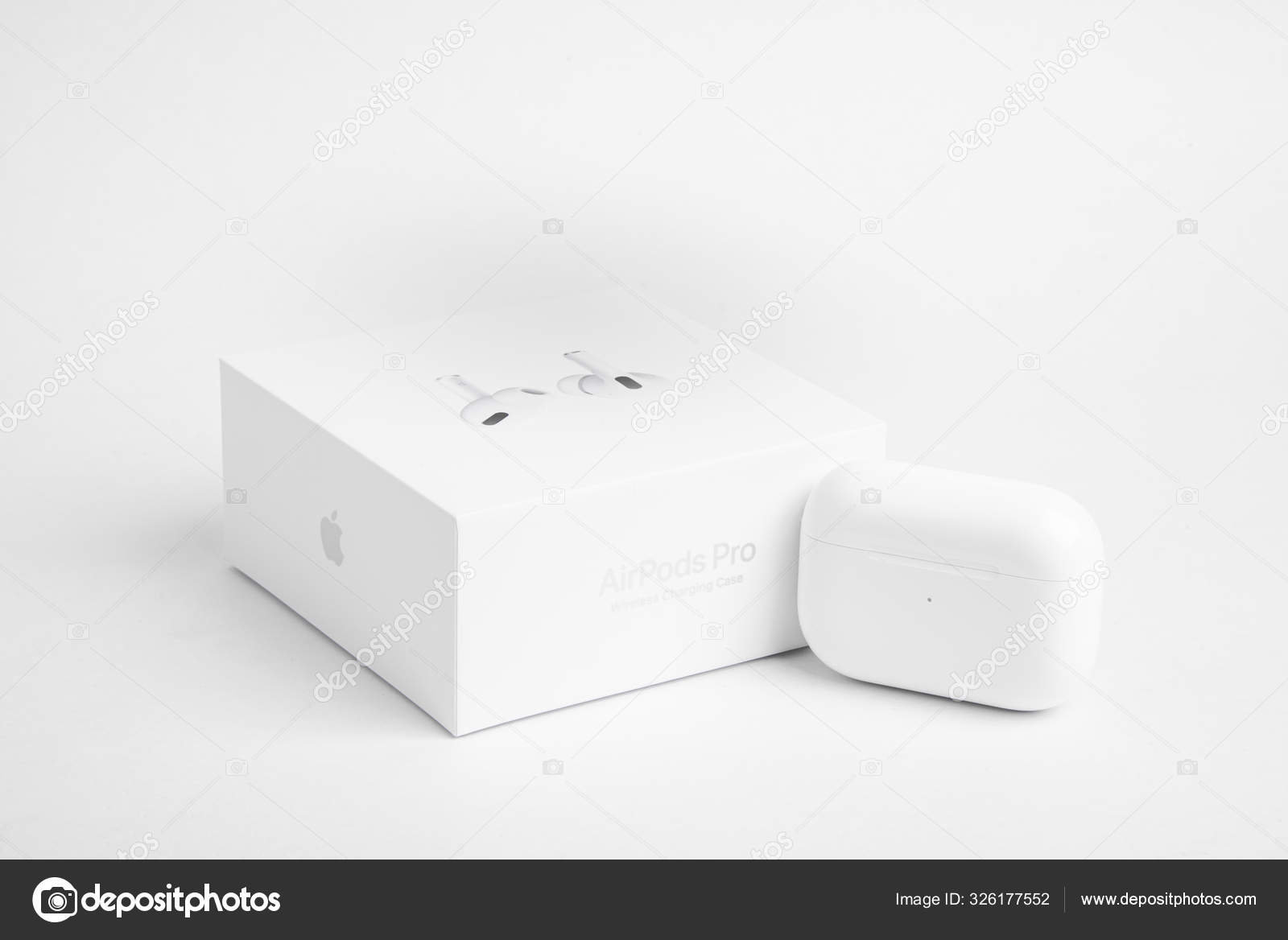 Packaging Box With Charging Case Of Apple Airpods Pro Stock Editorial Photo C Dominiquejames 326177552