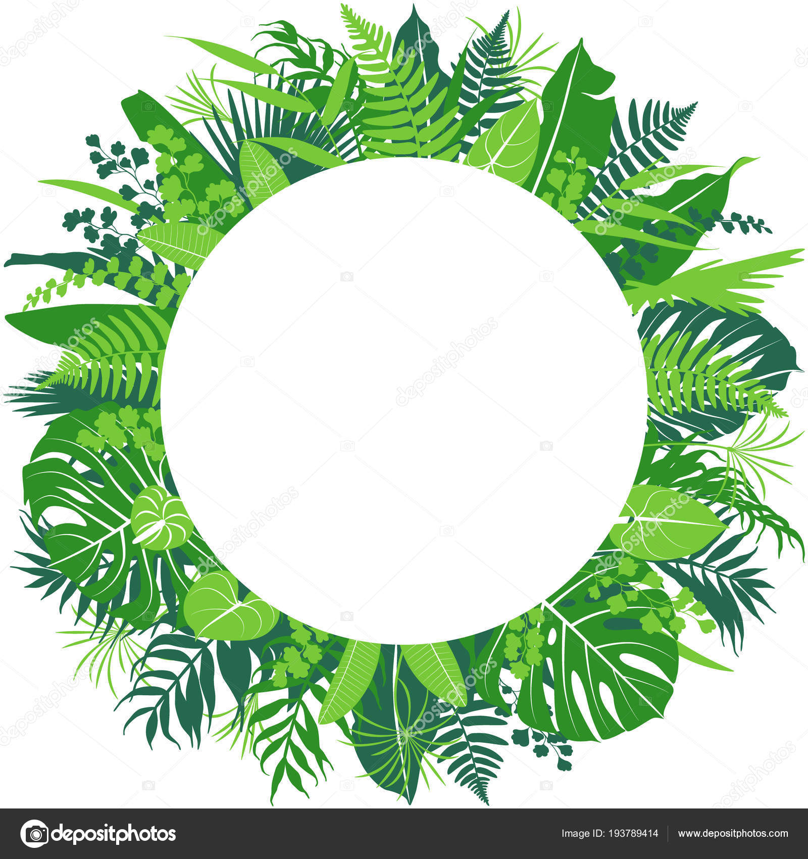 Tropical Leaves Round Frame Stock Vector C Valiva 193789414 Choose from over a million free vectors, clipart graphics, vector art images, design templates, and illustrations created by artists worldwide! https depositphotos com 193789414 stock illustration tropical leaves round frame html