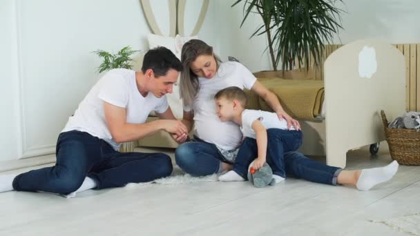 Family of Three in Expectation of Baby