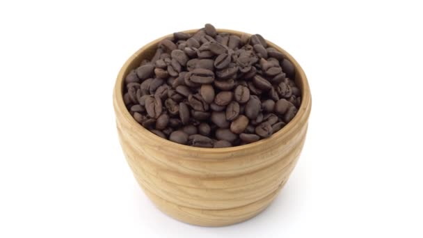 Holzschale mit Kaffeebohnen