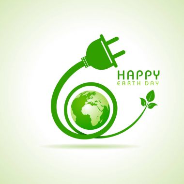 Happy Earth Day greeting stock vector