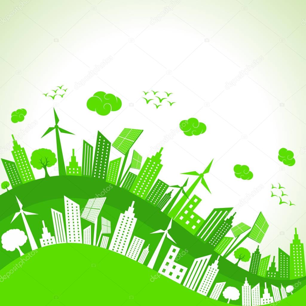 Save Nature Concept with Ecocity