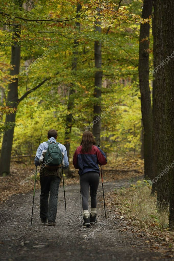 couple on walking trail