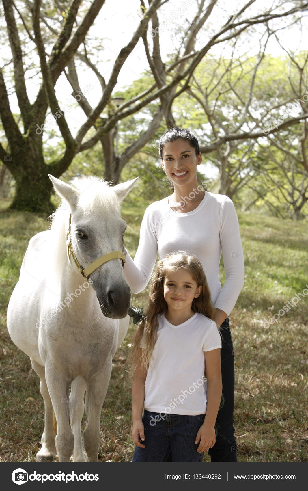 Mother And Daughter With Horse Stock Photo C Microstockasia 133440292
