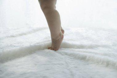 close up of babies feet