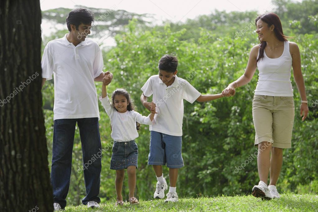 asian family outdoors