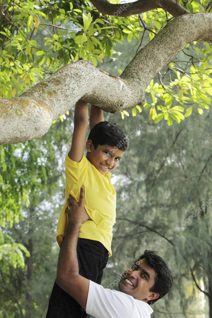 boy play in park