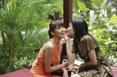 women in outdoor cafe