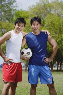 Two men on field