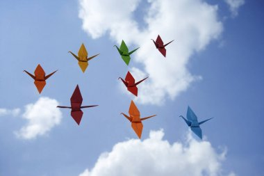 Chinese paper cranes