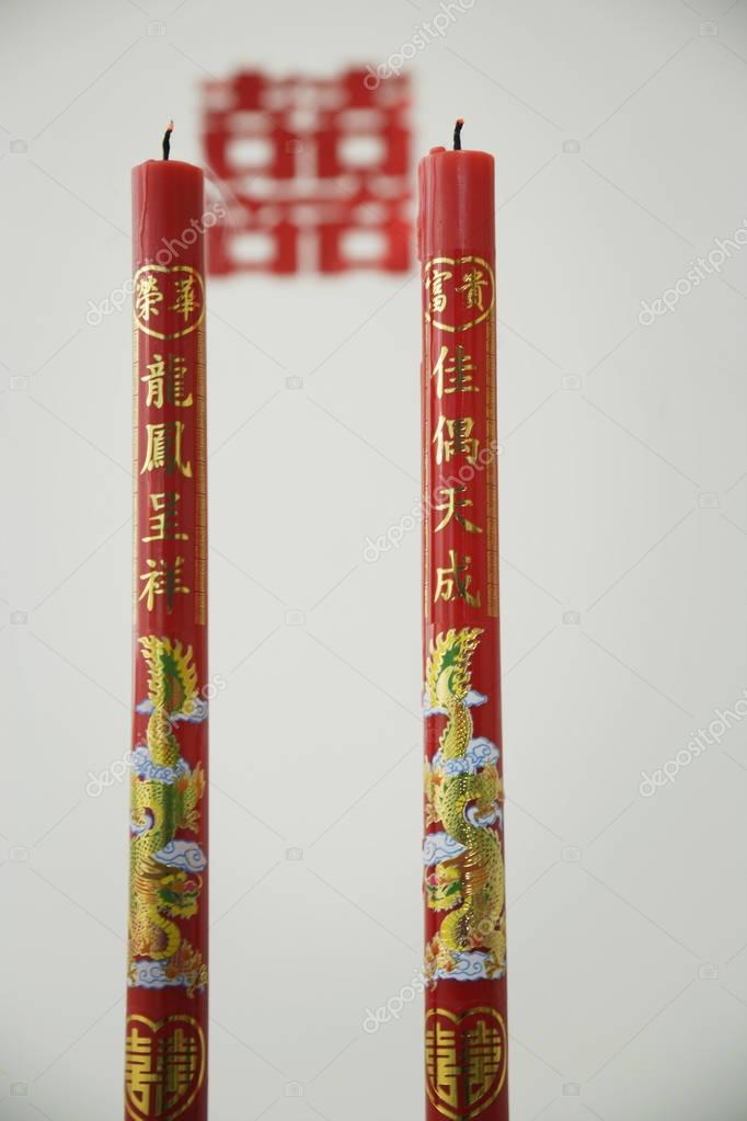 Two Chinese candles