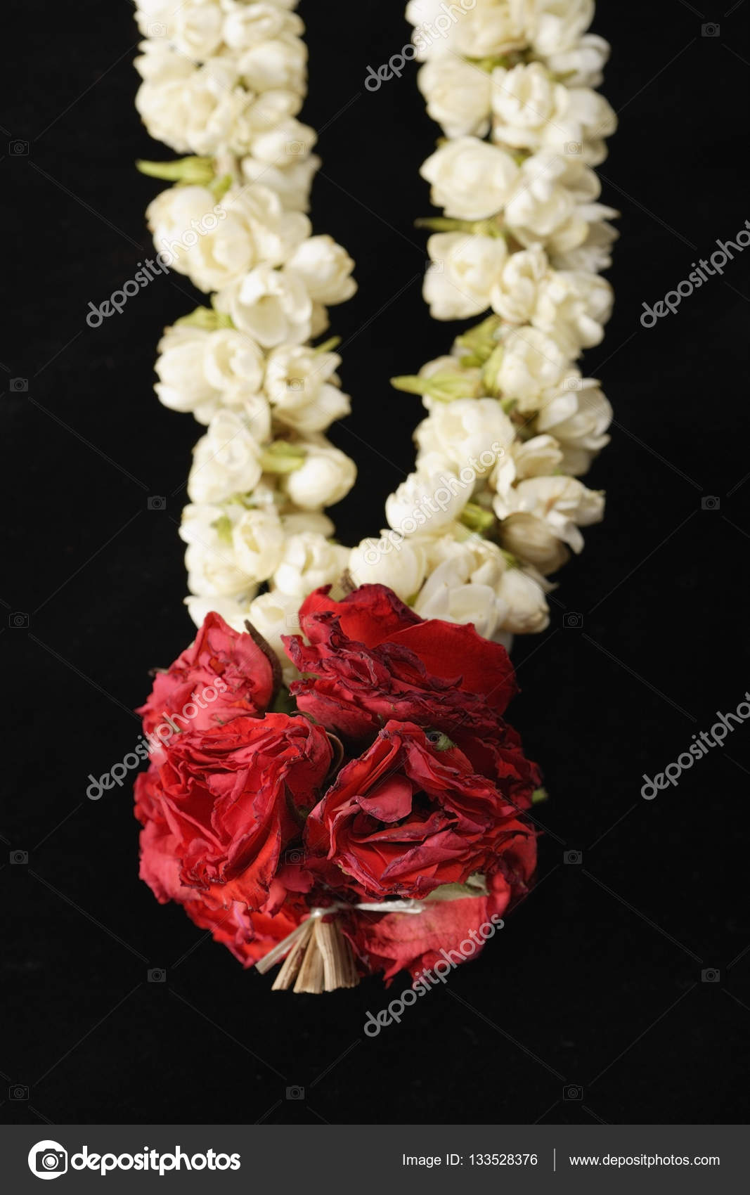 Pink and white flowers garland stock photo microstockasia 133528376 close up photo of pink and white flowers garland photo by microstockasia mightylinksfo