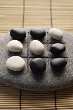 black and white zen stones