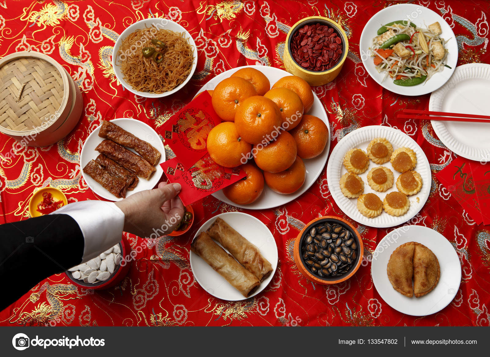 Chinese Food Table