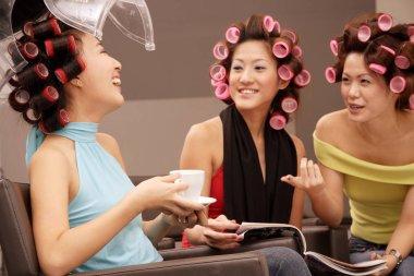 Young women at beauty salon