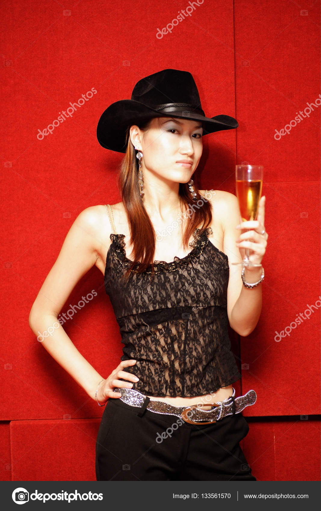 woman wearing cowboy hat — Stock Photo © MicrostockAsia  133561570 eced54da7fea