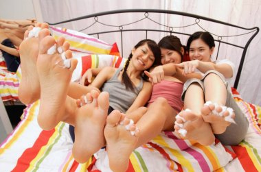 women showing their feet