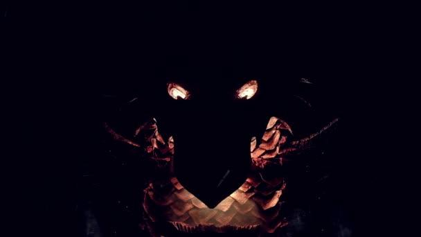Dragón Metal Cuarto Oscuro — Vídeos de Stock © FREE0NE #188913352