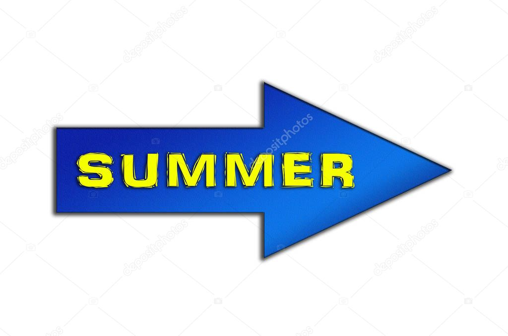 Label the summer of the inscription on the arrow pointer