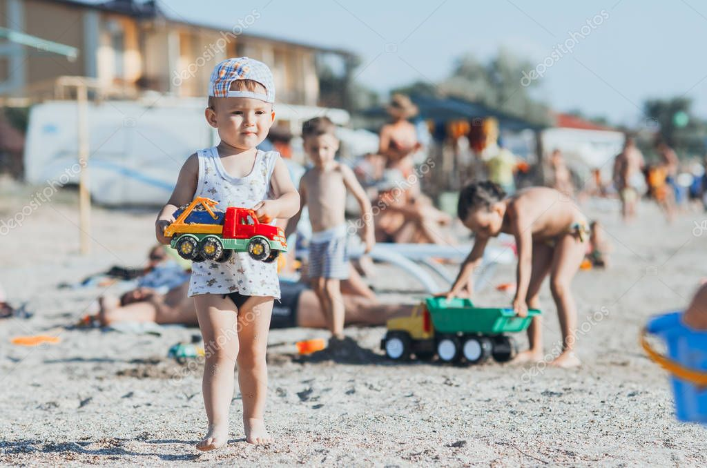 the little boy on the beach