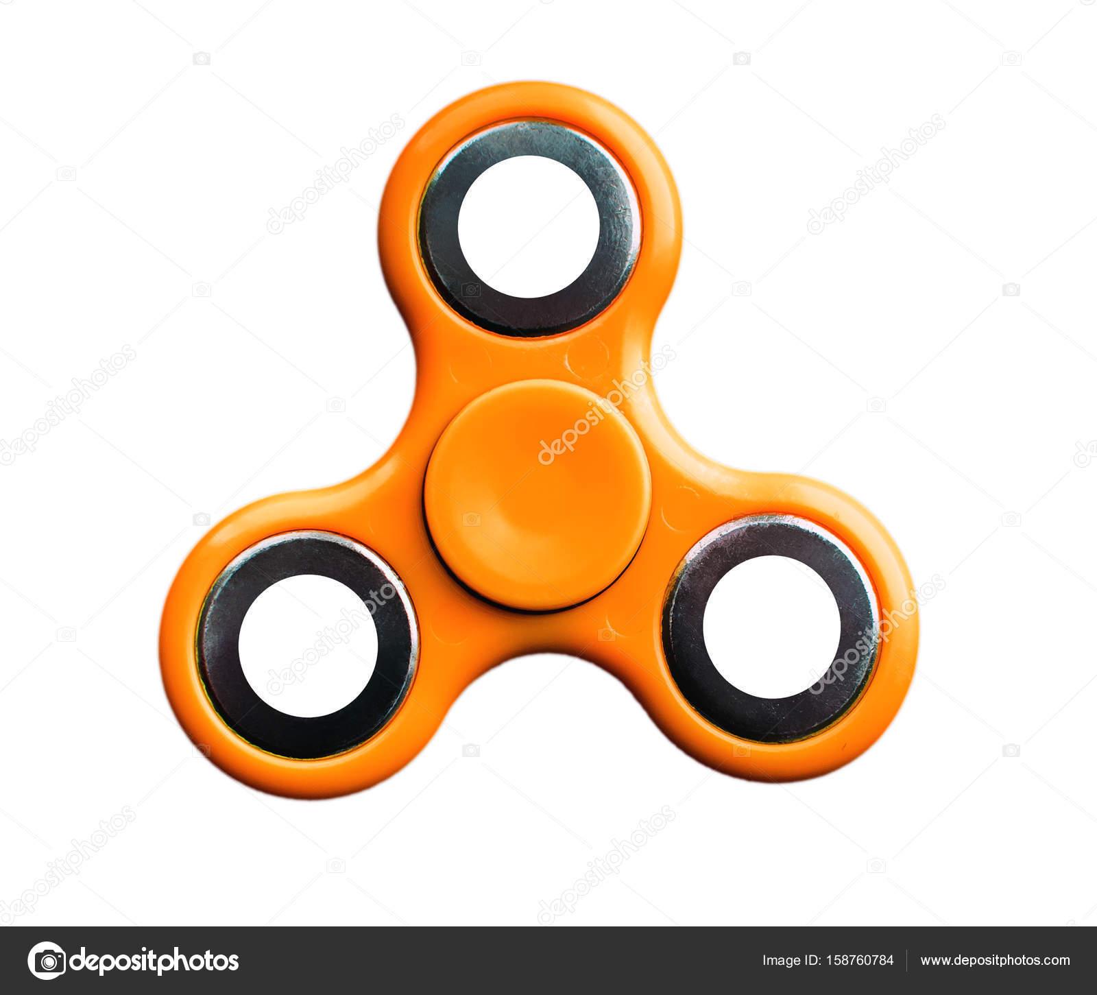 — White Orange Stock © Isolated 158760784 Photo Fidget Spinner On Background Komokvm