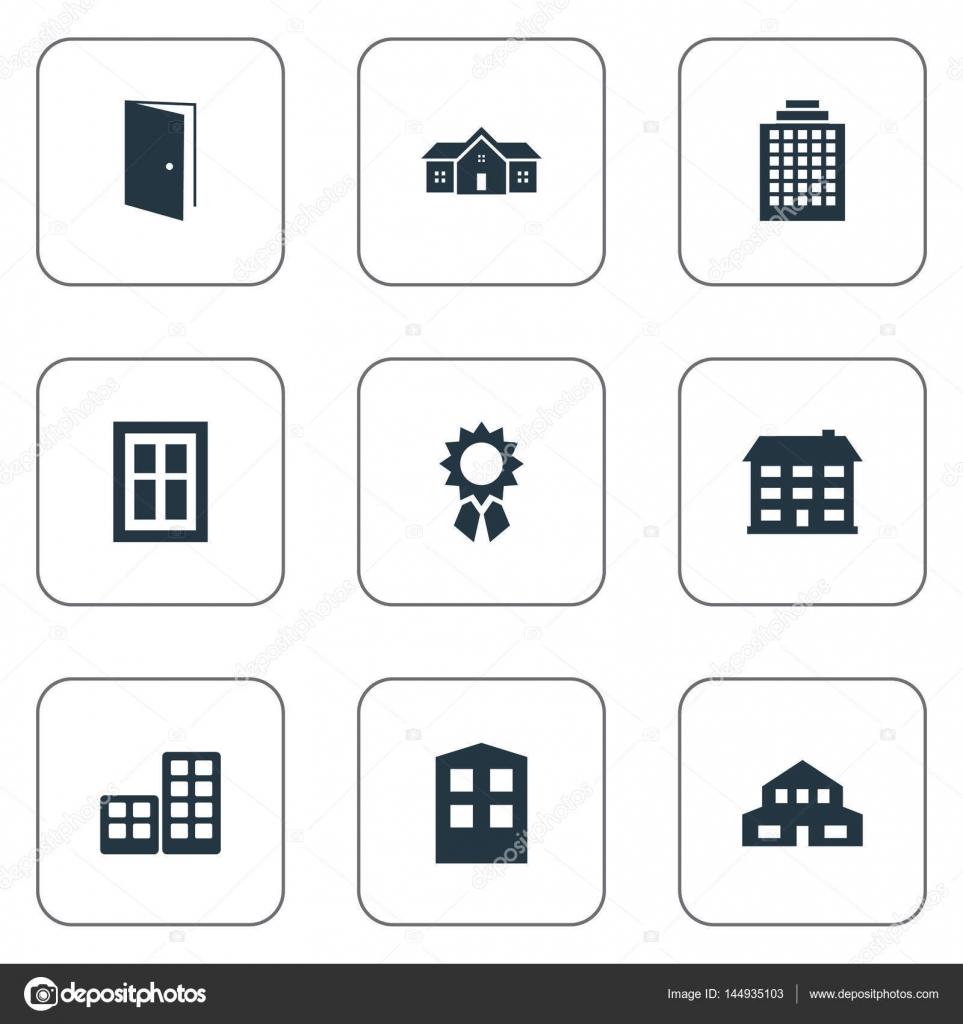 Illustrazione vettoriale Set di icone di struttura semplice ...
