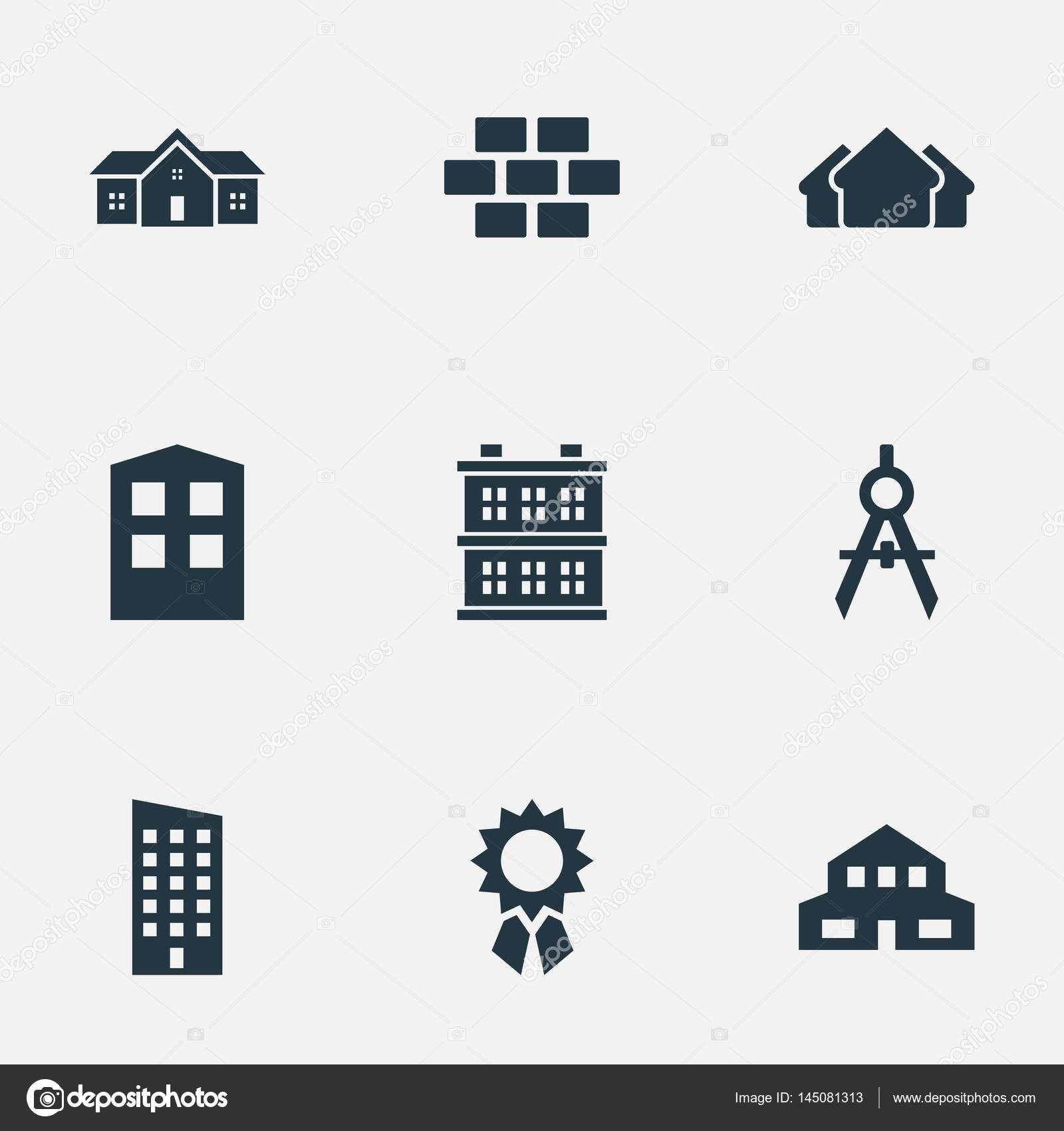 Vector Illustration Set Of Simple