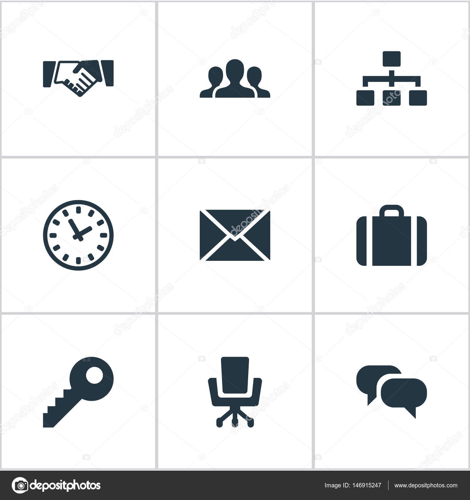 Vektor-Illustration-Set von einfachen B2b Icons. Elemente-Beziehung ...
