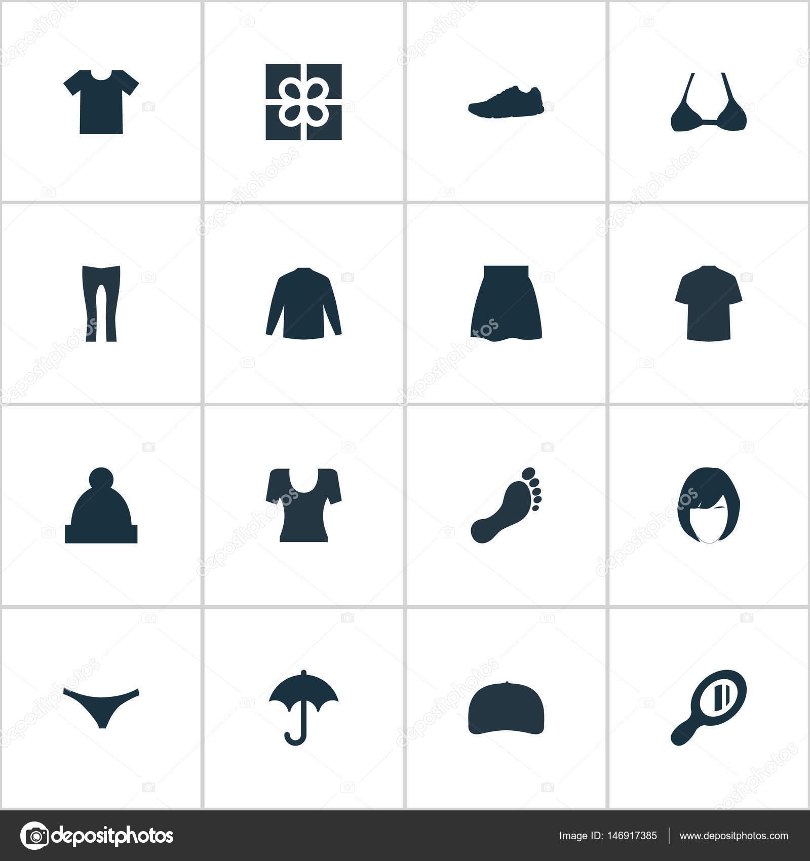 Illustrazione vettoriale di capi semplici icone. Elementi di sci ... eeb0bb82ffe2