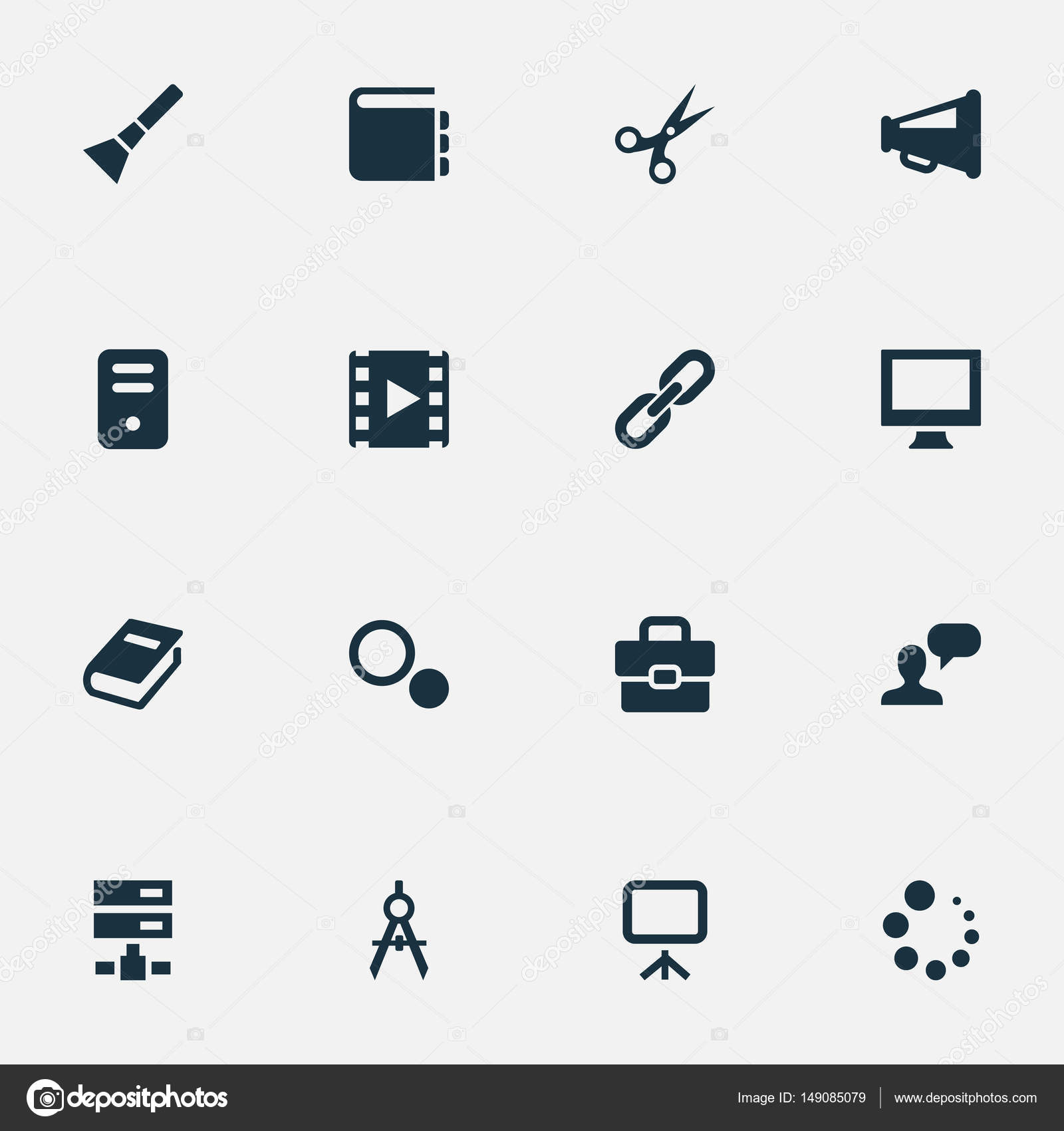 Vector illustration set of simple icons icons elements circle elements circle compass blueprint hand lantern synonyms handbag chain and hyperlink vector by rashadashurov malvernweather Gallery