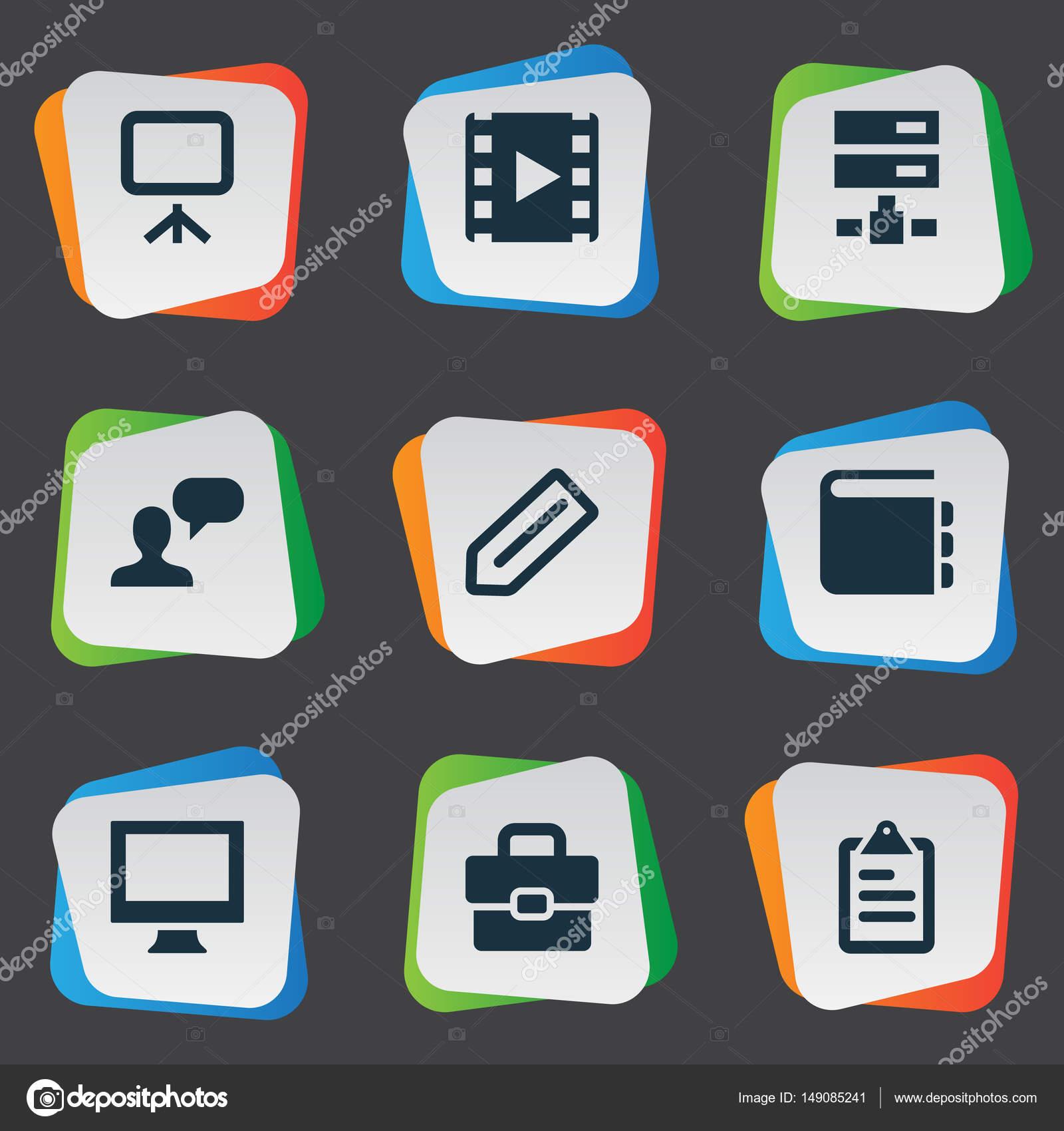 Vektor-Illustration-Set einfache Symbole Symbole. Elemente-Tag ...