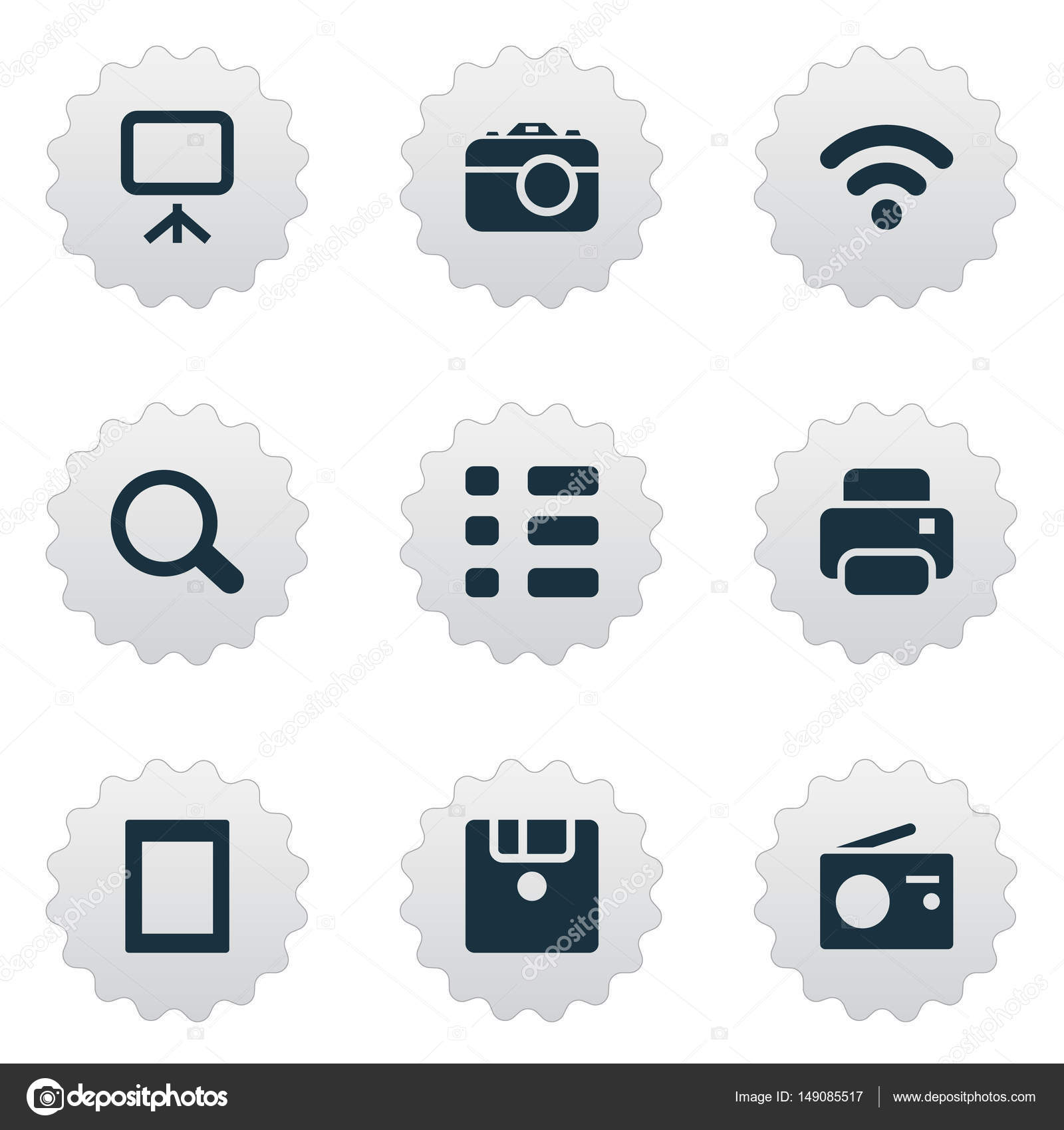 Vector illustration set of simple technology icons elements elements photographing wireless connection schedule and other synonyms camera wifi and reflex vector de rashadashurov malvernweather