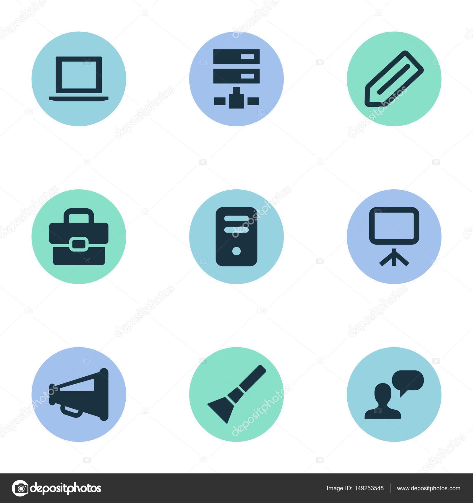 Vektor-Illustration-Set einfache Benutzeroberfläche Ikonen. Elemente ...