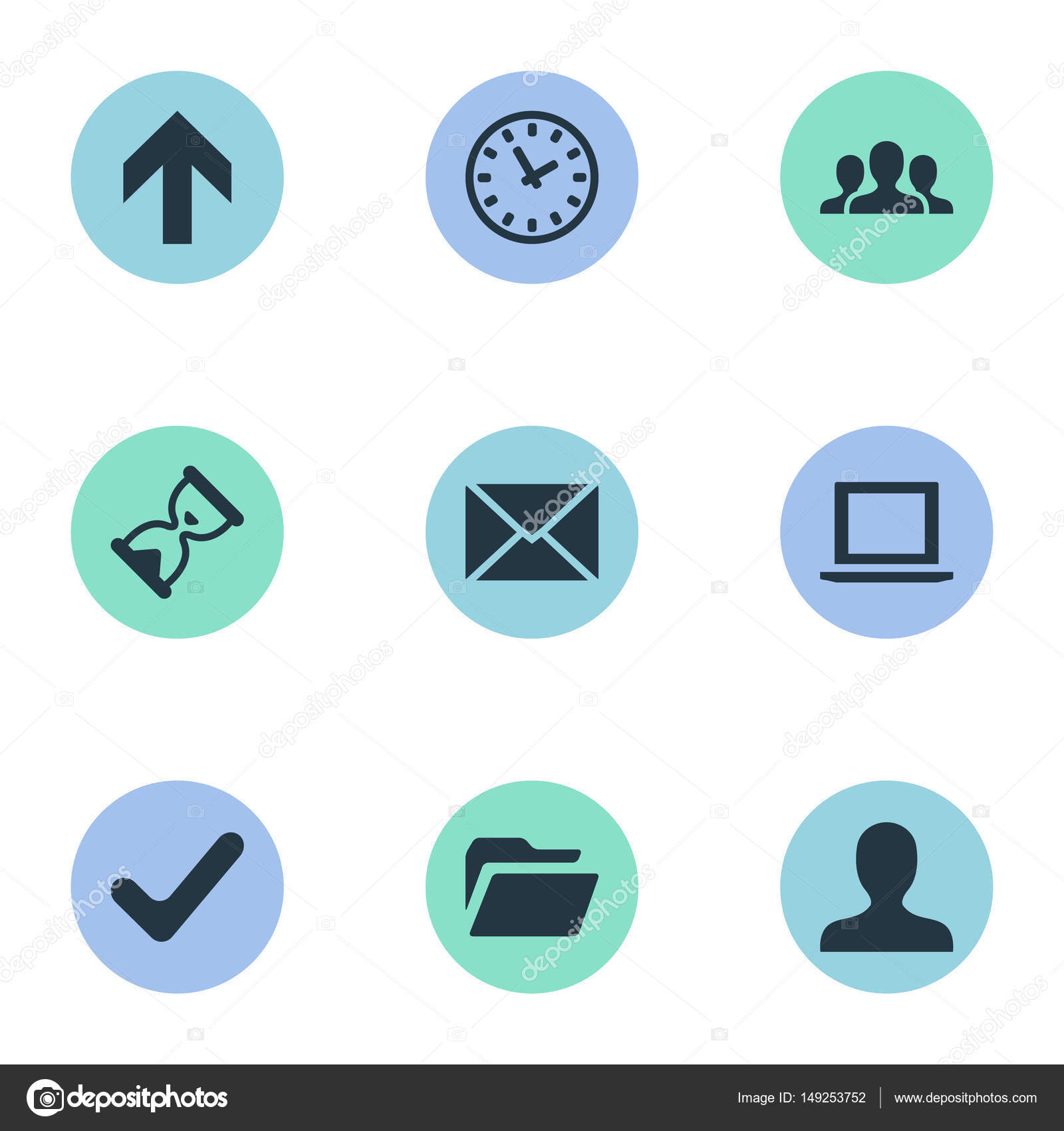 Vektor-Illustration-Set einfache Anwendung Symbole. Elemente ...