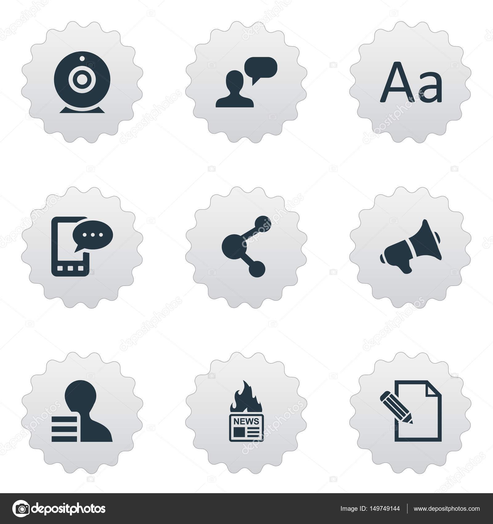 Vektor-Illustration-Set einfache Benutzer-Icons. Elemente ...