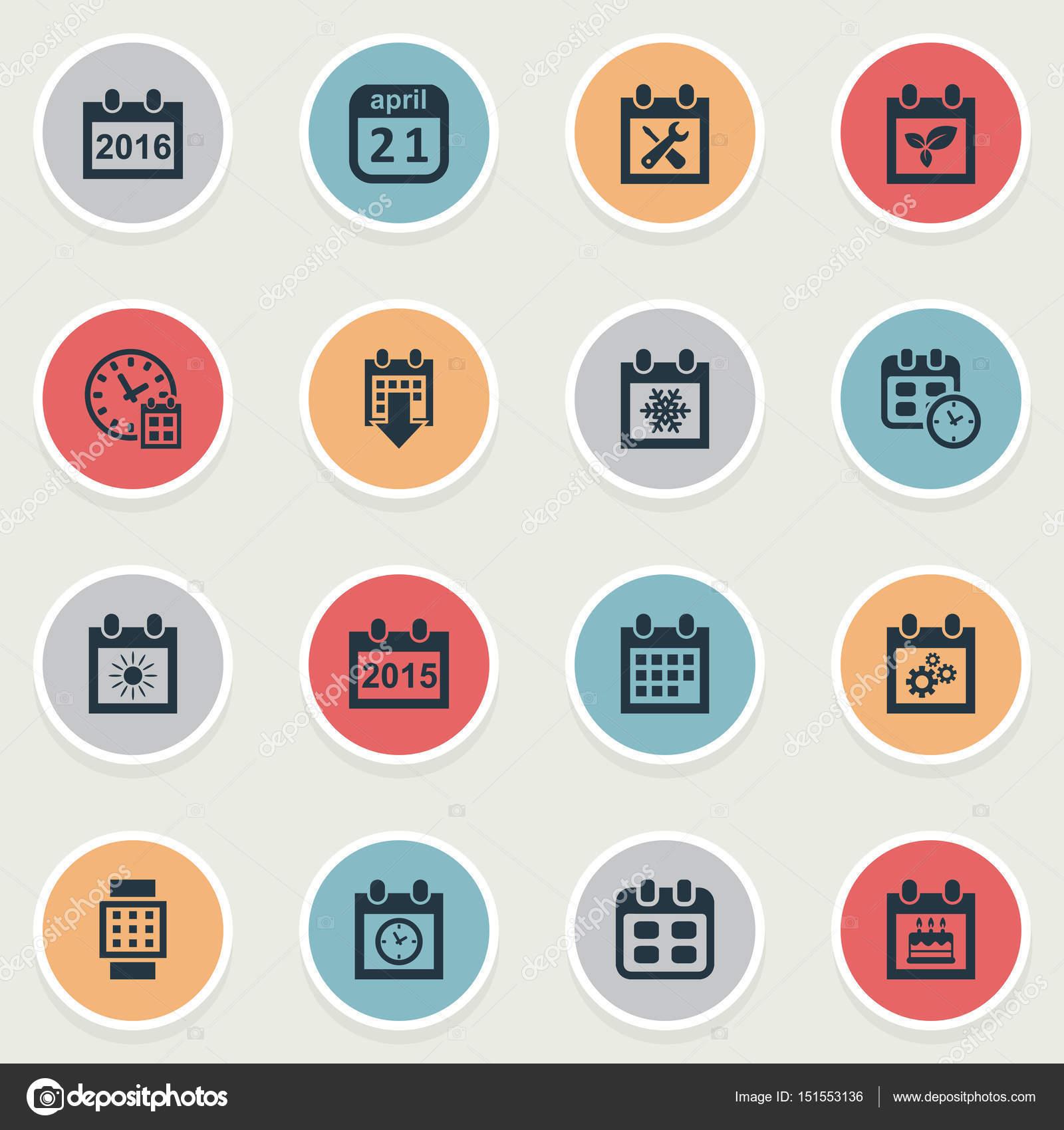 vector illustration set of simple plan icons elements intelligent