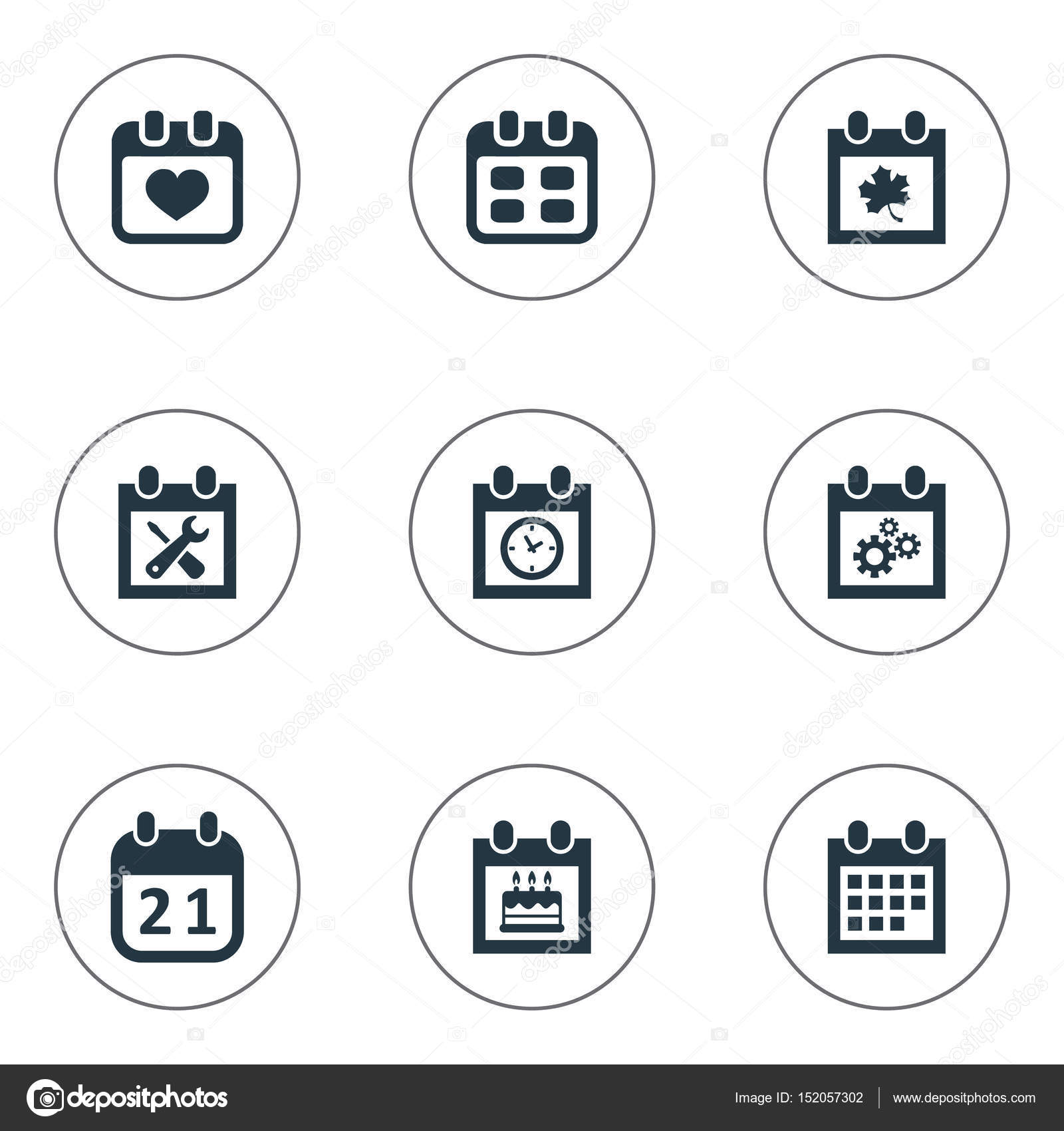 vector illustration set of simple plan icons elements event