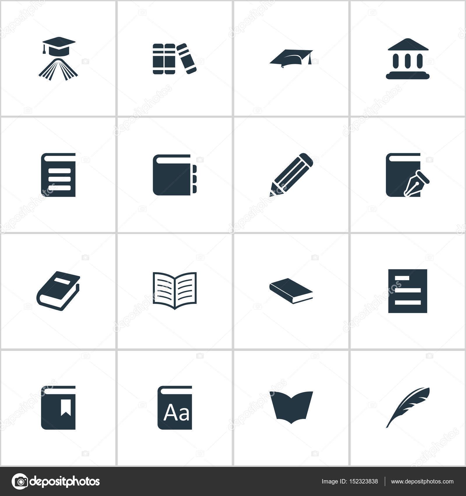 Illustrazione vettoriale Set di icone di semplice conoscenza ... aac9f7c9a133
