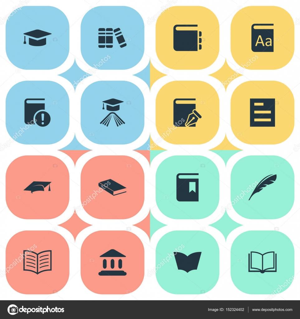 Illustrazione vettoriale Set di icone di semplice lettura. Elementi ... aa4f7225f556